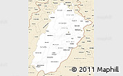 Classic Style Simple Map of Punjab