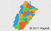 Political Simple Map of Punjab, cropped outside