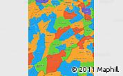 Political Simple Map of Punjab