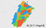 Political Simple Map of Punjab, single color outside