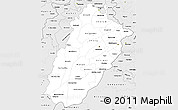 Silver Style Simple Map of Punjab