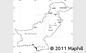 Blank Simple Map of Pakistan, cropped outside