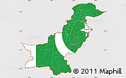 Flag Simple Map of Pakistan, flag centered