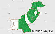 Flag Simple Map of Pakistan