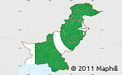 Flag Simple Map of Pakistan, single color outside, flag centered