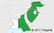 Flag Simple Map of Pakistan, single color outside
