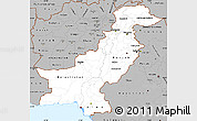 Gray Simple Map of Pakistan