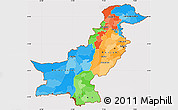 Political Simple Map of Pakistan, cropped outside