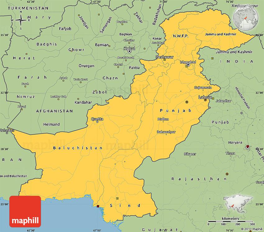 Simple Site Map: Savanna Style Simple Map Of Pakistan