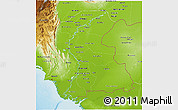 Physical 3D Map of Sind