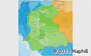 Political Shades 3D Map of Sind