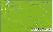 Physical Panoramic Map of Badin