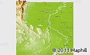 Physical Panoramic Map of Dadu