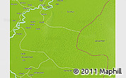 Physical 3D Map of Khairpur