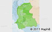 Political Shades Map of Sind, lighten