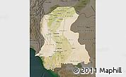 Satellite Map of Sind, darken