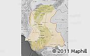 Satellite Map of Sind, desaturated