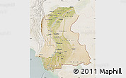 Satellite Map of Sind, lighten