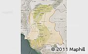 Satellite Map of Sind, semi-desaturated