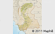 Satellite Map of Sind, shaded relief outside