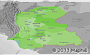 Political Shades Panoramic Map of Sind, desaturated