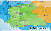 Political Shades Panoramic Map of Sind