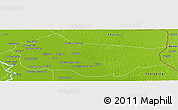 Physical Panoramic Map of Sanghar
