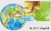 Physical Location Map of Shikarpur