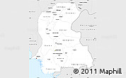 Silver Style Simple Map of Sind