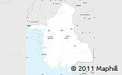 Silver Style Simple Map of Thatta