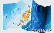 Political Shades 3D Map of Palau
