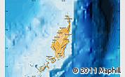 Political Shades Map of Palau