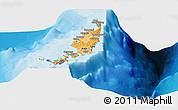Political Shades Panoramic Map of Palau