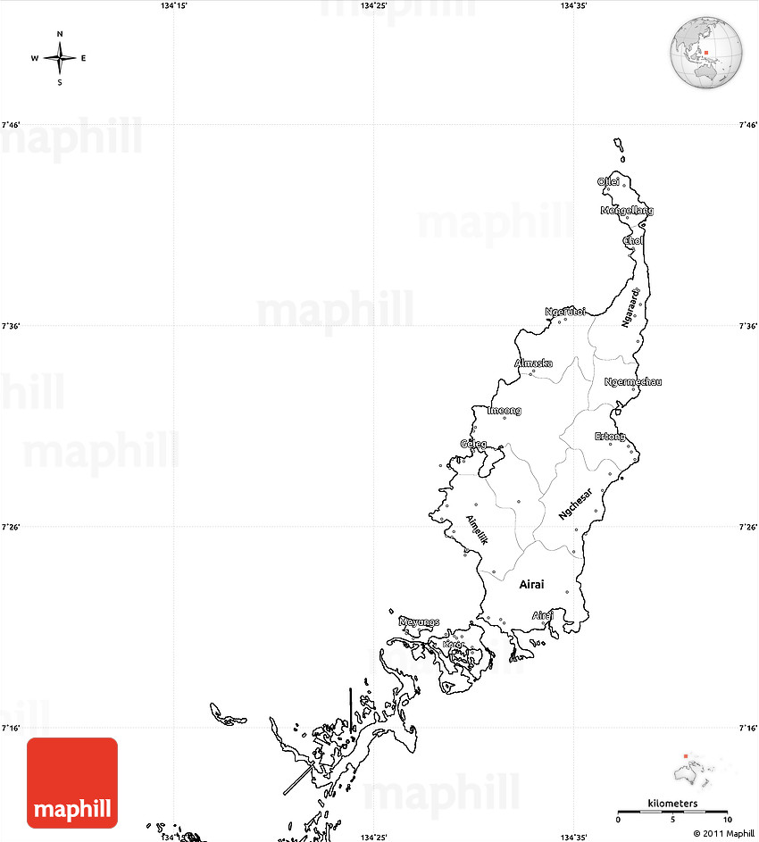 Blank Map Of Oceania Blank Simple Map of Pa...