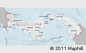 Gray 3D Map of Panama, single color outside