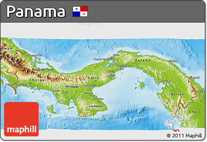 Free Physical D Map Of Panama - Physical map of panama
