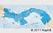 Political Shades 3D Map of Panama, lighten