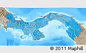 Political Shades 3D Map of Panama, semi-desaturated, land only
