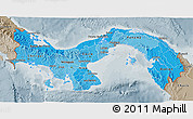 Political Shades 3D Map of Panama, semi-desaturated