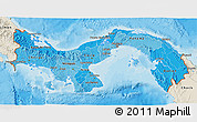 Political Shades 3D Map of Panama, shaded relief outside, bathymetry sea