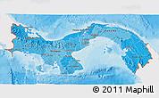 Political Shades 3D Map of Panama, single color outside
