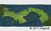 Satellite 3D Map of Panama, darken