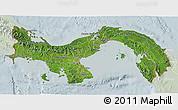Satellite 3D Map of Panama, lighten