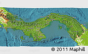 Satellite 3D Map of Panama, physical outside, satellite sea