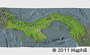 Satellite 3D Map of Panama, semi-desaturated