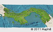Satellite 3D Map of Panama, shaded relief outside, satellite sea