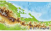 Physical 3D Map of Bocas del Toro