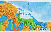 Political 3D Map of Bocas del Toro