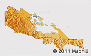 Political Shades 3D Map of Bocas del Toro, cropped outside