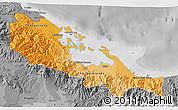 Political Shades 3D Map of Bocas del Toro, desaturated